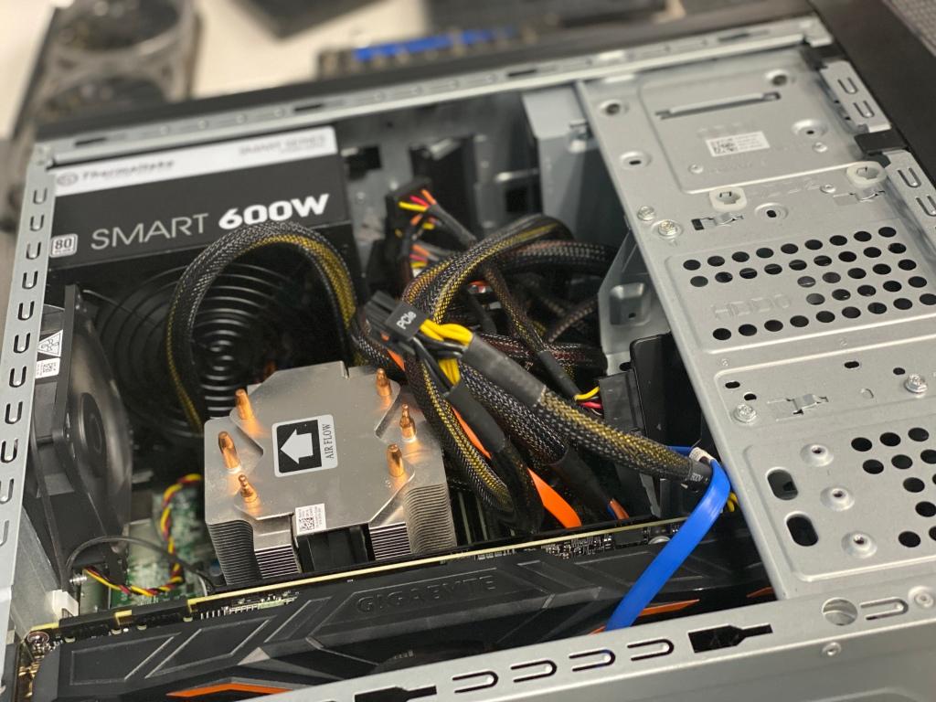 Desktop computer hardware installation