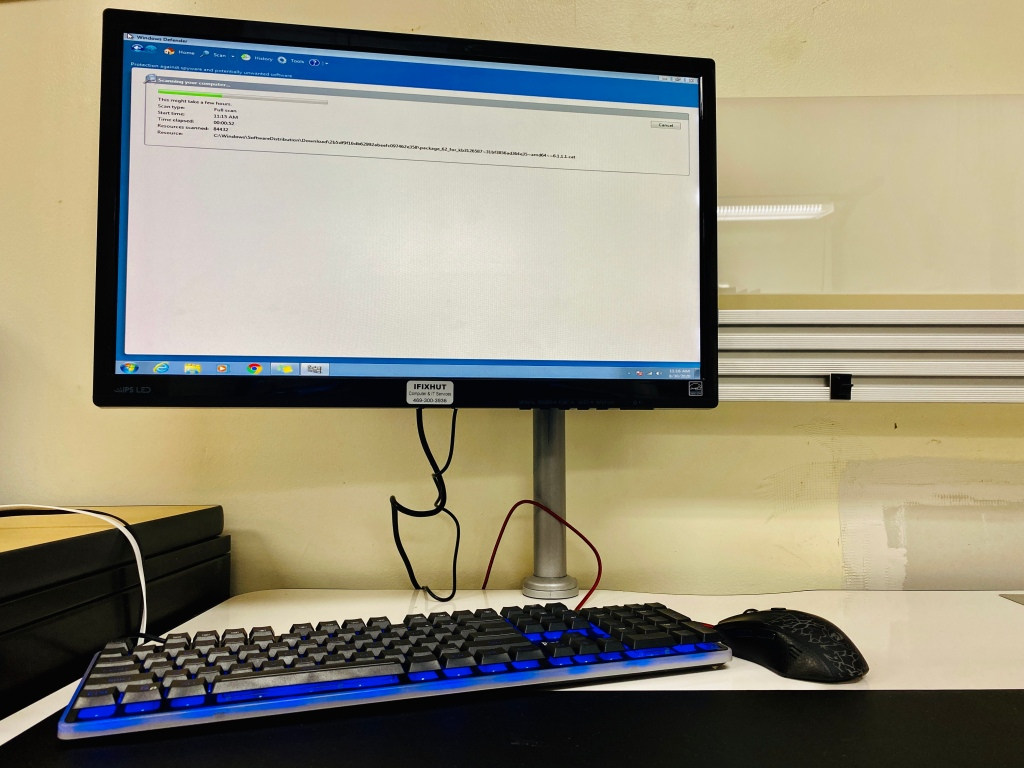 Desktop computer virus removal and antivirus installation