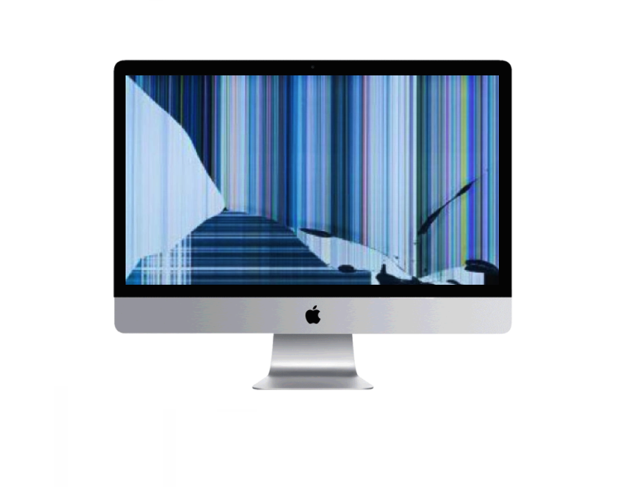 Apple iMac bleeding and broken screen repair Sherman Texas