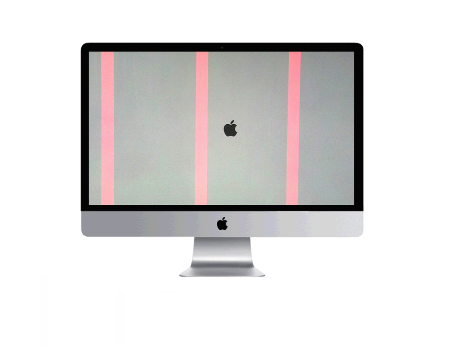 Apple computer iMac graphics issue, flickering screen, vertical lines on screen repair Plano Texas