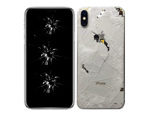 Apple cellphone iPhone X Physical damage crack and scratches repair near McKinney Texas